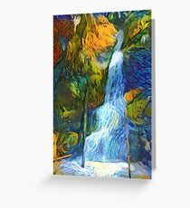 Hidden Hana Hwy Waterfall Greeting Card