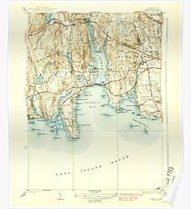 USGS TOPO Map Connecticut CT Niantic 330962 1938 31680 Poster