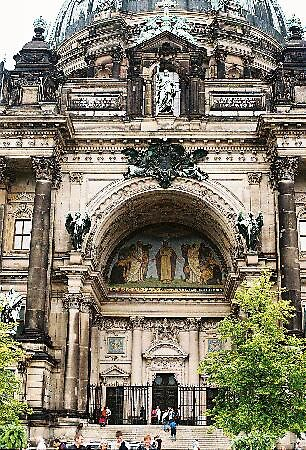 Entrance to Berlin cathedral, Germany by chord0