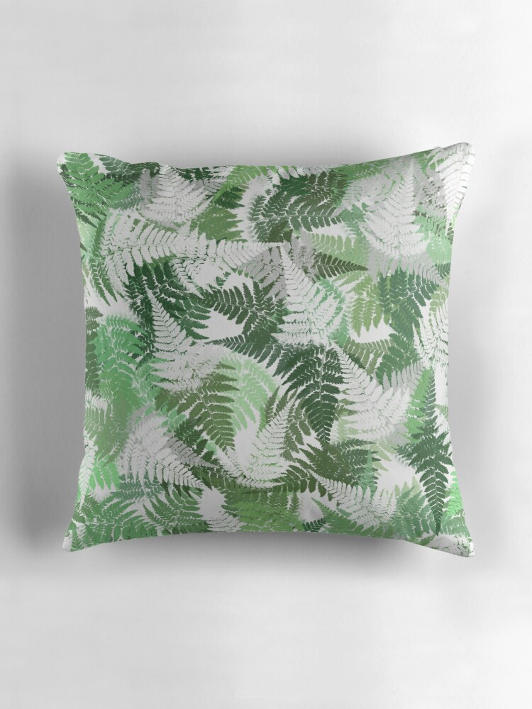 Quot Fern Leaf Pattern Quot Throw Pillows By Christina Rollo