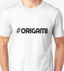 #Origami Hashtag Origami Art Paper Folding Craft Gift Idea T-Shirt