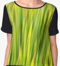 Green Nature Abstract Women's Chiffon Top