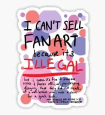 Self-expression (white) Sticker
