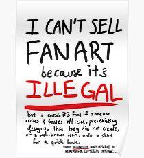 Self-expression (white, plain) Poster