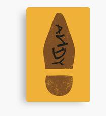 Woody's Shoe Canvas Print