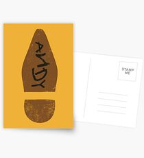 Woodys Schuh Postkarten