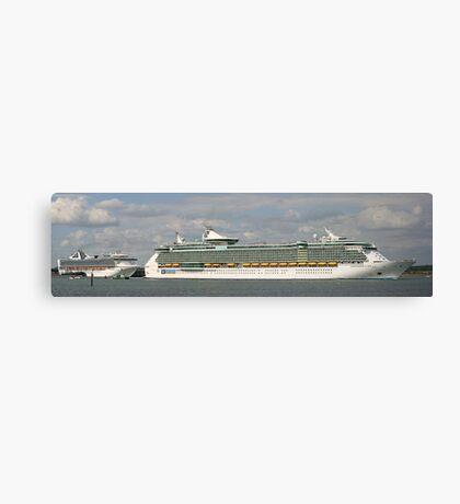 Cruise Ship Pano Canvas Print