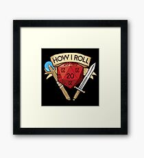 d20 Dungeons and Dragons Dice RPG Tee Framed Print