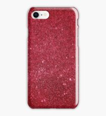 Red Sparkle Glitter iPhone Case/Skin