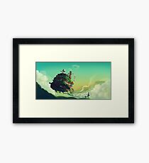 Howls Moving Castle studio ghibli Framed Print