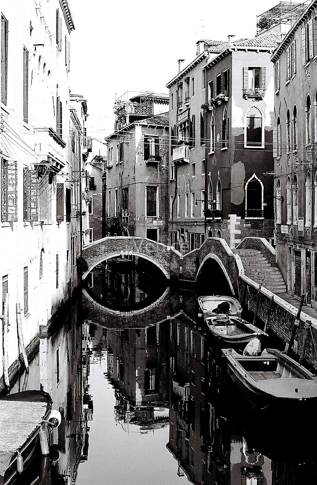 Reflections on a Canal by Venice