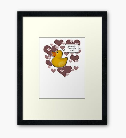 ♥ Rubber Ducky ♥ -girly Framed Print