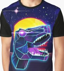 Electric Jurassic Rex - Neon Purple Dinosaur  Graphic T-Shirt