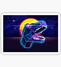 Electric Jurassic Rex - Neon Purple Dinosaur  Sticker