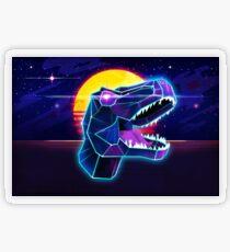 Electric Jurassic Rex - Neon Purple Dinosaur  Transparent Sticker