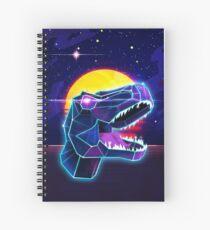 Electric Jurassic Rex - Neon Purple Dinosaur  Spiral Notebook