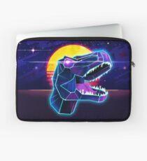 Electric Jurassic Rex - Neon Purple Dinosaur  Laptop Sleeve