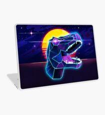 Electric Jurassic Rex - Neon Purple Dinosaur  Laptop Skin