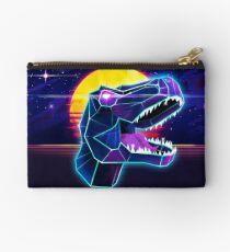 Electric Jurassic Rex - Neon Purple Dinosaur  Studio Pouch