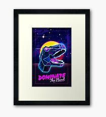 Electric Jurassic Rex - Dominate the Planet Framed Print