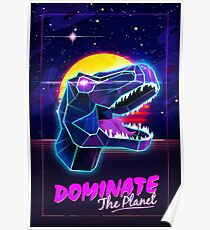 Electric Jurassic Rex - Dominate the Planet Poster