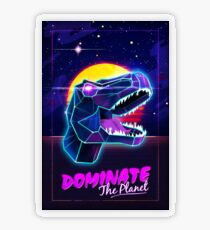 Electric Jurassic Rex - Dominate the Planet Transparent Sticker