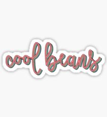 Retro Cool Beans Sticker