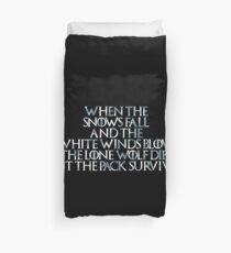 Game of Thrones Einsamer Wolf stirbt Gedicht Bettbezug