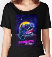 Electric Jurassic Rex - Dominate the Planet Women's Relaxed Fit T-Shirt