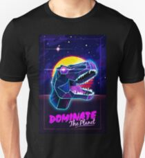 Electric Jurassic Rex - Dominate the Planet Slim Fit T-Shirt
