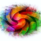 Rainbow Swirl-Available As Art Prints-Mugs,Cases,Duvets,T Shirts,Stickers,etc by Robert Burns
