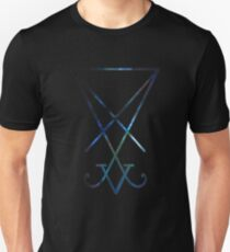 Sigil of Lucifer / Seal of Satan infused with Orion Nebula Unisex T-Shirt