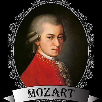 Wolfgang Amadeus Mozart Portrait by JacknightW