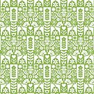 «Swedish Folk Art - Greenery» de miavaldez