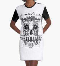Treskule Demon Head Design Graphic T-Shirt Dress