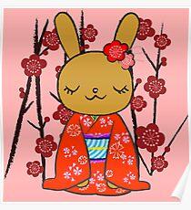 Kimono Bunny! Usahime the Rabbit Poster