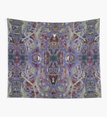 Skulls Purple Rouge Wall Tapestry