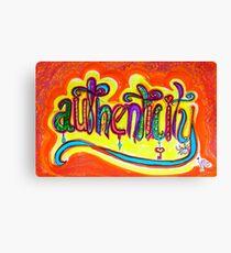 Authenticity Canvas Print