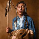 Tries His Knee - Crow American Indian by DanKeller