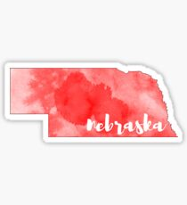 nebraska watercolor brush Sticker
