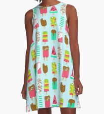 Ice Cream Time A-Line Dress