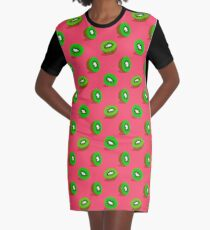 Kiwifruit Graphic T-Shirt Dress
