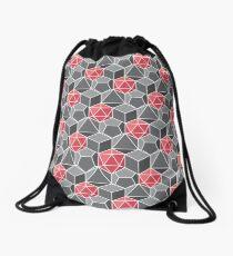 Dungeons and Dragons Fantasy Dice Pattern Drawstring Bag