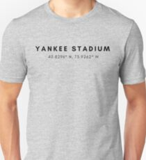 Yankee Stadium Lat/Long Unisex T-Shirt