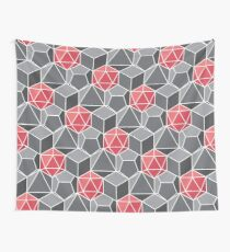 Dungeons and Dragons Fantasy Dice Pattern Wall Tapestry