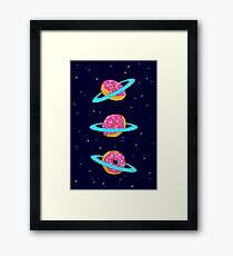 Sugar rings of Saturn Framed Print