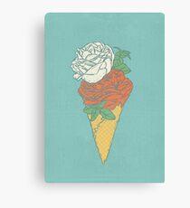 Rose ice cream Canvas Print