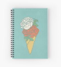 Rose ice cream Spiral Notebook