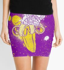floral banana Mini Skirt