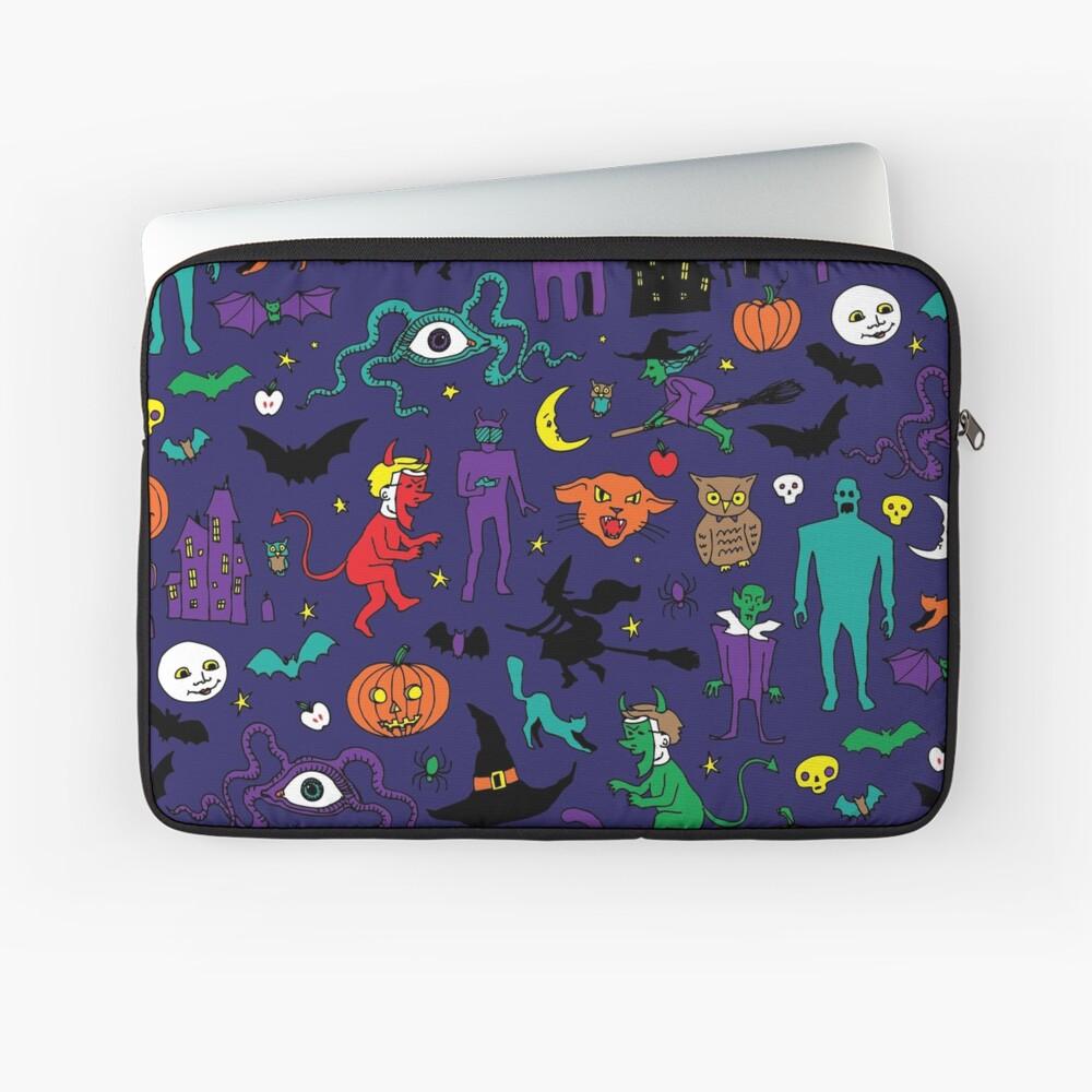 Retro Halloween - Original - Halloween-Muster von Cecca Designs Laptoptasche